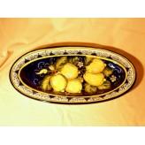 Lemon oval tray 41
