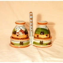 Tuscan landscape salt/pepper set