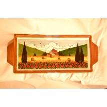 Tuscan landscape plate