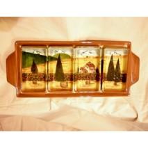 Tuscan landscape finger food plate
