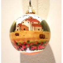 Tuscan landscape Christmas ball