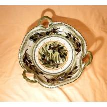Olive threehandled bowl