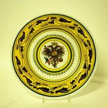 Contrada Aquila plate