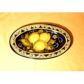 Lemon oval tray 28
