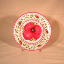 Poppy round plate 18