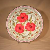 Poppy round plate 31