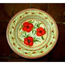 Poppy round plate 40