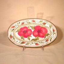 Poppy oval plate 28