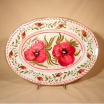 Poppy oval plate 36