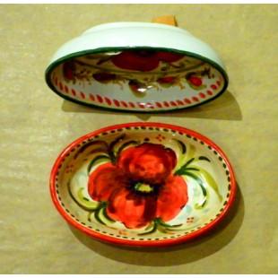 Poppy oval bowl
