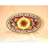 Sunflower Oval tray 28