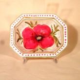 Poppy octagonal bowl
