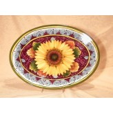 Sunflower Oval tray 36