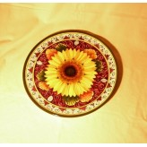 Sunflower round plate 30