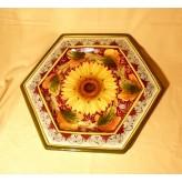 Sunflower hexagonal tray