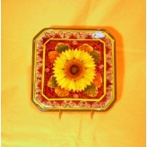 Sunflower square tray 18