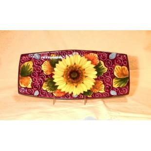 Sunflower medium sushi plate